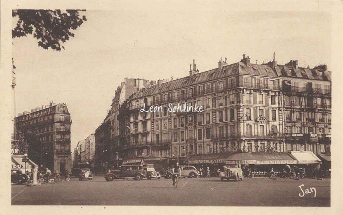Jan - Paris - La Place et le Boulevard Voltaire, rue Richard-Lenoir