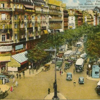JH 209 - PARIS - Les Grands Boulevards - Boulevard Montmartre