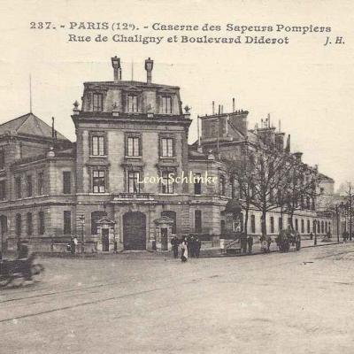JH 237 - Caserne des Saoeurs-Pompiers Rue de Chaligny et Bd Diderot