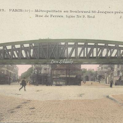 JH 322 - Métropolitain au Boulevard St-Jacques près rue de Ferres