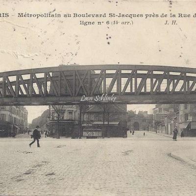 JH 322  - Métropolitain au Boulevard St-Jacques près rue de Ferrus -