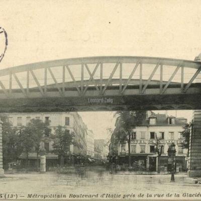 JH 335 - PARIS - Métropolitain Bd d'Italie près de la rue de la Glacière