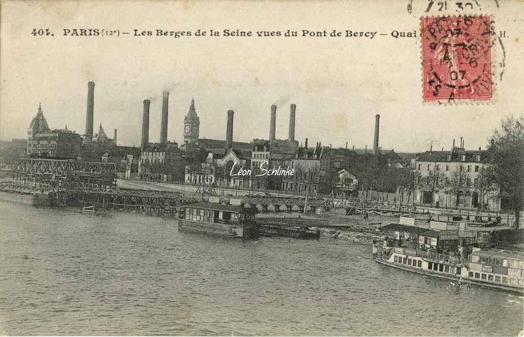 JH 404 - Les Berges de la Seine vues du Pont de Bercy