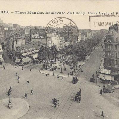 JH 419 - Place Blanche, Bd de Clichy, rues Lepic & Puget