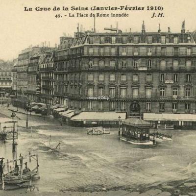 JH 49 - Paris - La Place de Rome inondée