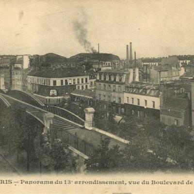 JH 494 - Panorama du 13° arrt, vue du Bld de la Gare