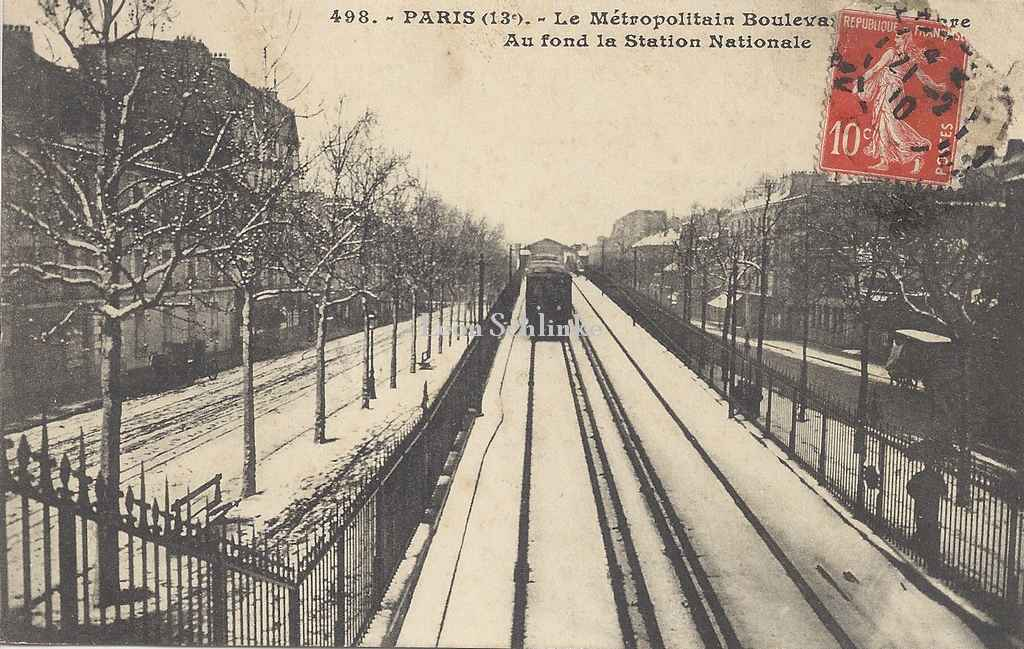 JH 498 - Boulevard de la Gare, au fond Station Nationale