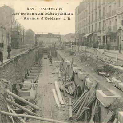 JH 562 - PARIS (14°) - Les travaux du Métropolitain Avenue d'Orléans