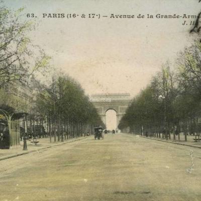 JH 63 - PARIS - Avenue de la Grande-Armée