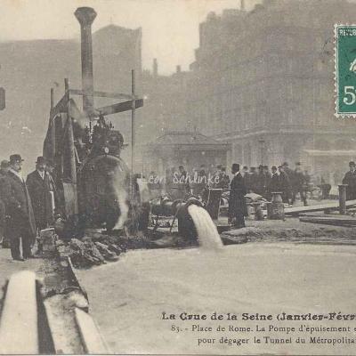 JH 83 - La Crue de la Seine, une pompe d'épuisement en marche