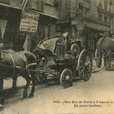 JH 903 - Une Rue de Paris à 4 heures le matin