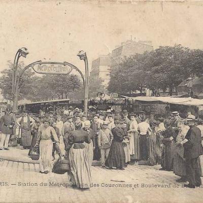 JLC 531 - Station du Métropolitain des Couronnes et Bd de Belleville