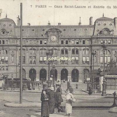 JMT 7 - Gare Saint-Lazare et entrée du Métropolitain