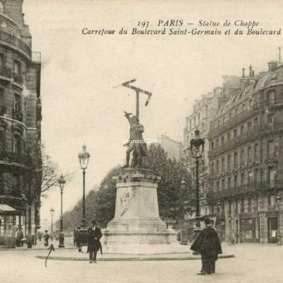 L'Abeille 193 - PARIS - Carrefour des Boulevards St-Germain et Raspail - Statue de Chappe