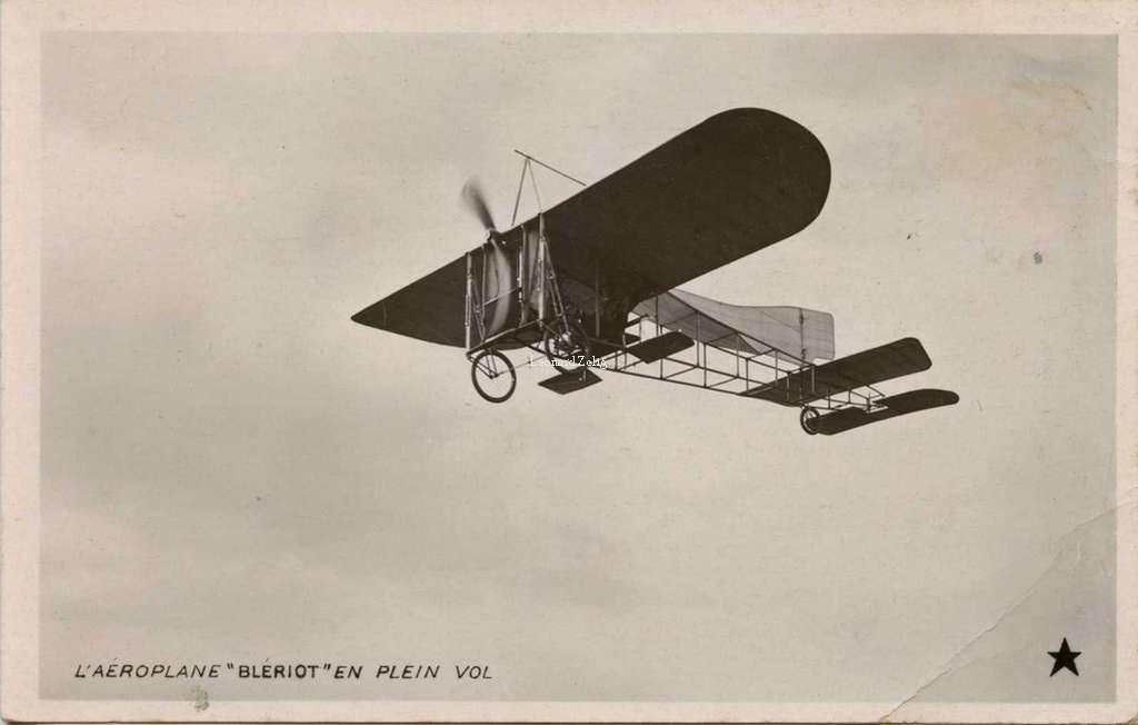 L'Aéroplane Blériot en plein vol