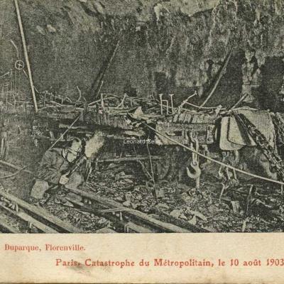 L.Duparque - Paris - Catastrophe du Métropolitain, le 10 août 1903