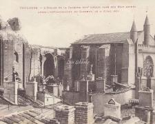 L'Eglise de la Dalbade après l'effondrement du clocher