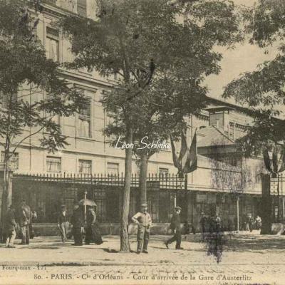 L.F. et V. 80 - Cie d'Orléans, Cour d'Arrivée de la Gare d'Austerlitz