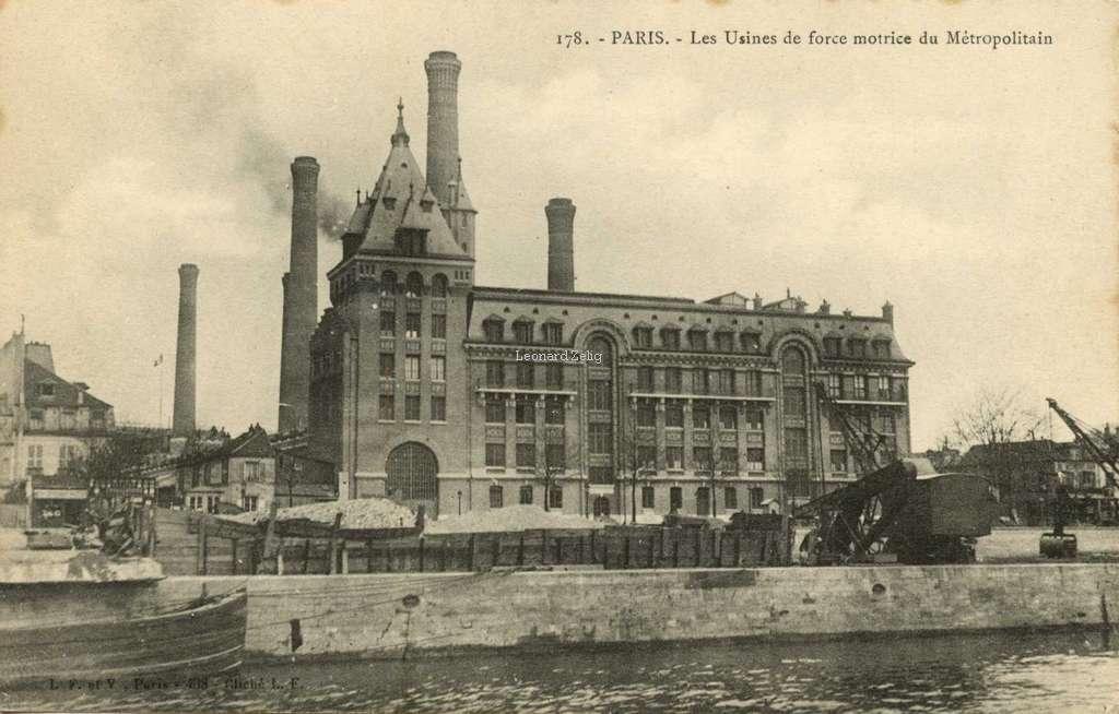 L.F.&V. 178 - PARIS - Les Usines de force motrice du Métropolitain