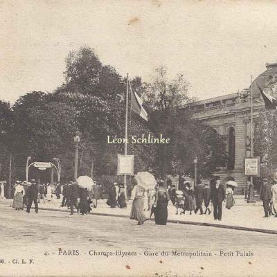 L.F & V. 4 - Champs-Elysées - Gare du Métro - Petit Palais