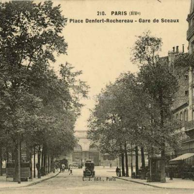 L.J. édit. 210 - Place Denfert-Rochereau - Gare de Sceaux