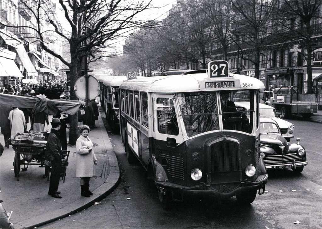 L27 - Autobus TN4H au Boulevard Saint-Michel en 1968