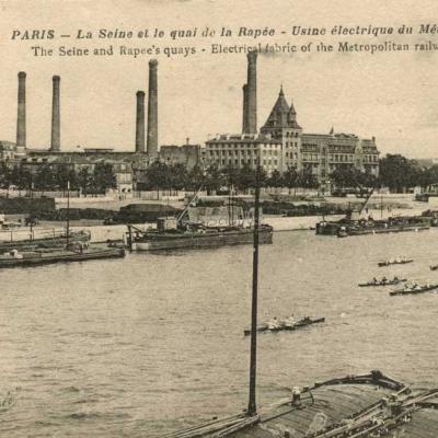 La Pensée 79 - La Seine et le Quai de la Rapée - Usine électrique
