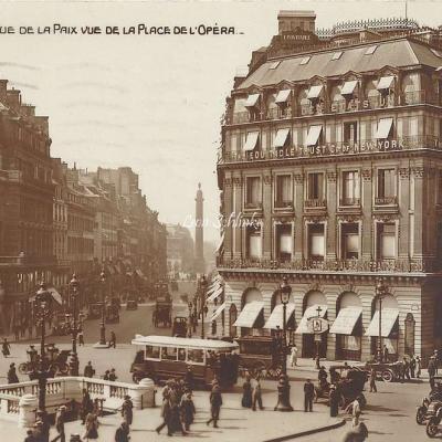 AN 4 - La rue de la Paix vue de la Place de l'Opéra