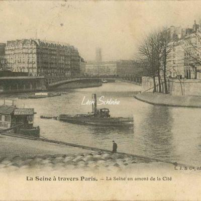 La Seine en amont de la Cité