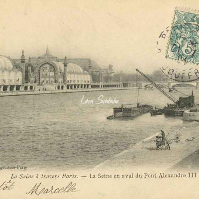 La Seine en aval du Pont Alexandre III
