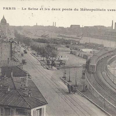 CM 474 - La Seine et les deux ponts du Metropolitain vers Bercy