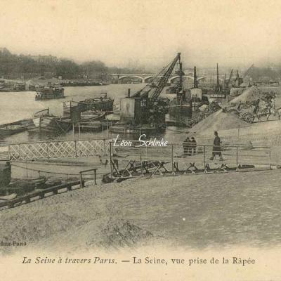 La Seine, vue prise de la Râpée