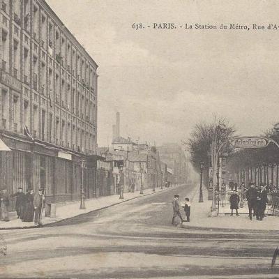 GI 638 - La Station du Metro - Rue d Avron