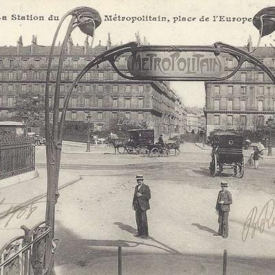 La Station du Métropolitain place de l'Europe - CM 1032