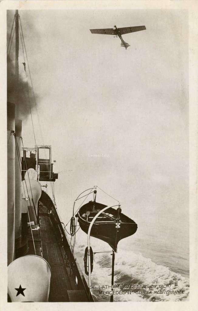 56 - Latham au-dessu du Yacht Mercedes II