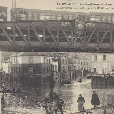 Richer - Le Carrefour Lourmel inondé