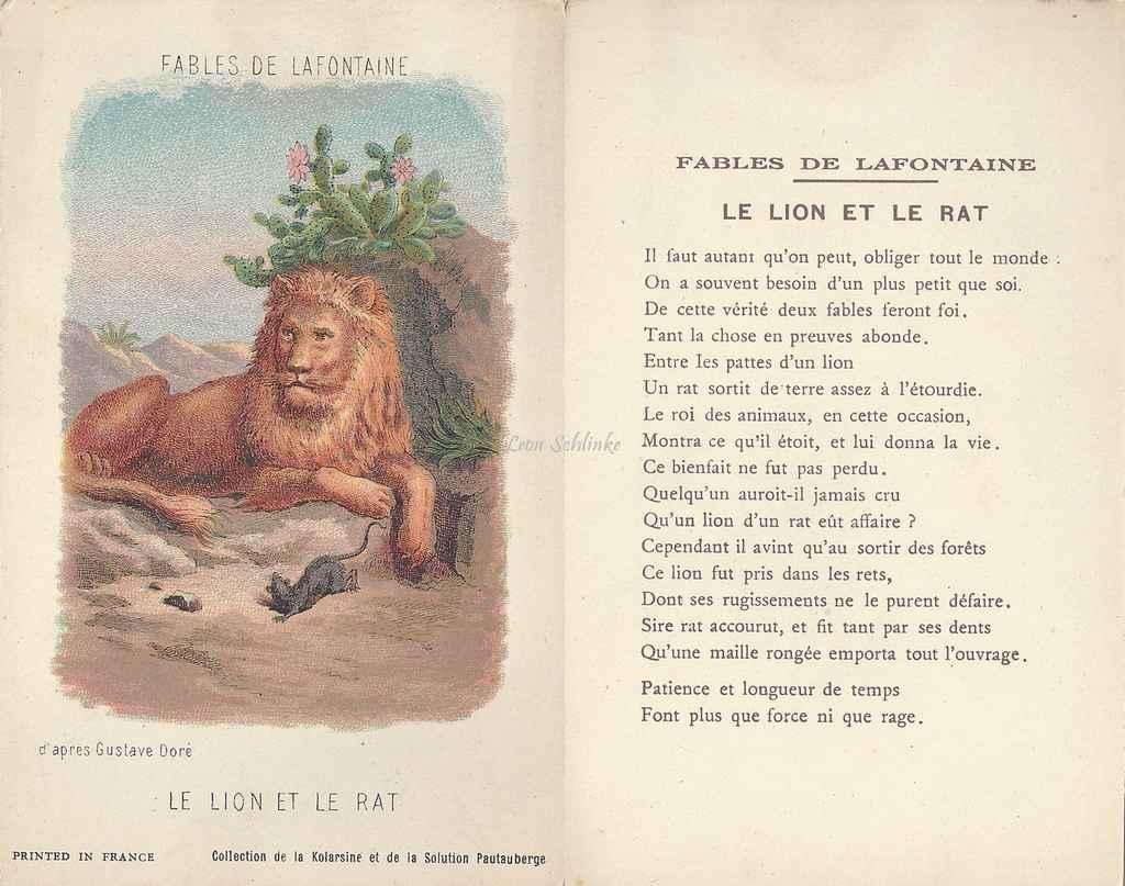 Gustave dor - Image le lion et le rat ...