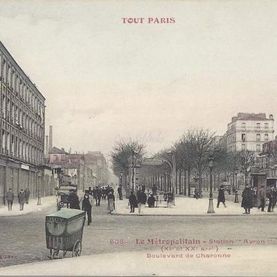 TOUT PARIS 608 - Le Metropolitain Staion Avron - Boulevard de Charonne