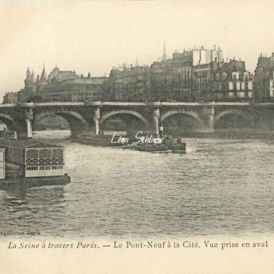 Le Pont-Neuf à la Cité. Vue prise en aval