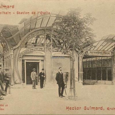 11 - Style Guimard - Le Métropolitain - Station de l'Etoile