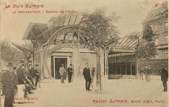 Le Style Guimard N°11 - Le Métropolitain - Station de l'Etoile