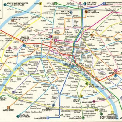 Leconte 101 226C - Plan du Métro et du RER