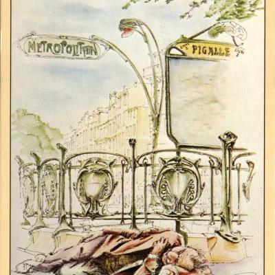 Leconte 2627 - PARIS - Dessin de Michel Perréard (Métro Pigalle)