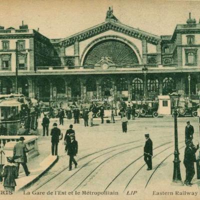 Lip 210 - PARIS - La Gare de l'Est et le Métropolitain