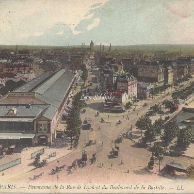 LL 1148 - Panorama de la Rue de Lyon et le Boulevard de la Bastille