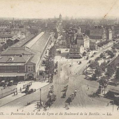 LL 1148 - Panorama de la Rue  de  Lyon et du Boulevard de la Bastille