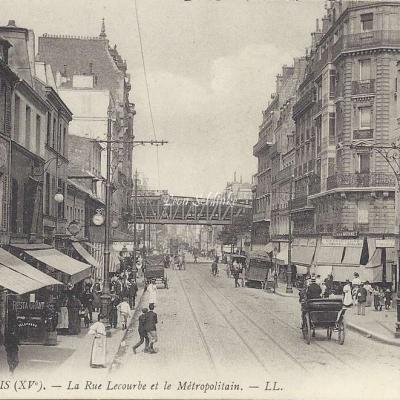 LL 1437 - La rue Lecourbe et le Metropolitain