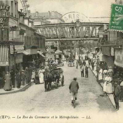 LL 1463 - La Rue du Commerce et  le Métropolitain
