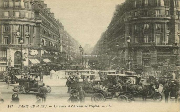 LL 147 - La Place et l'Avenue de l'Opéra