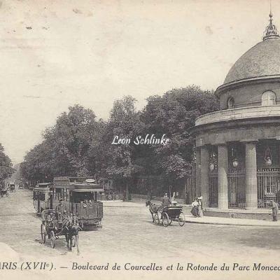 LL 1546 - Boulevard de Courcelles et la Rotonde du Parc Monceau